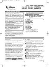 Buy Funai 25A-250 254 450 454 HC2S0ED(EN) Manual by download #160906