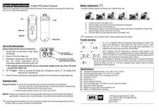 Buy Amprobe TIF7201 Operating Guide User Instructions by download Mauritron #194572