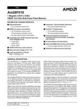 Buy INTEGRATED CIRCUIT DATA AM28F010J Manual by download Mauritron #186450