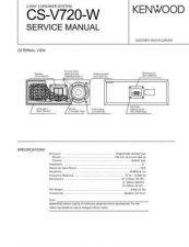 Buy KENWOOD CS-V720W Technical Info by download #148068