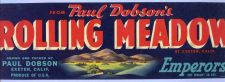 Buy CA Exeter Fruit Crate Label From Paul Dobson's Rolling Meadow at Exeter, C~33