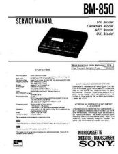 Buy SONY BM-850 Service Manual by download #166327