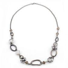 Buy Hematite Organic Link Necklace