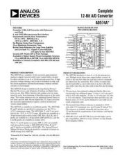 Buy INTEGRATED CIRCUIT DATA AD574AJ Manual by download Mauritron #186274
