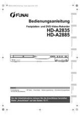 Buy Funai HD-A2835 A2885 DE BR1 Operating Guide by download #162556