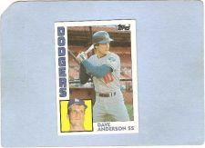 Buy CA Los Angeles Sport Baseball 1984 Topps Dave Anderson LA Dodgers sport_bo~162