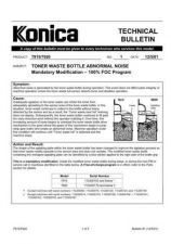 Buy Konica 01 TONER WASTE BOTTLE ABNOR Service Schematics by download #135788