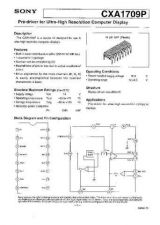 Buy MODEL CXA1709 Service Information by download #124005