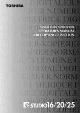 Buy Toshiba DP16 25 OPERMAN Service Manual by download #139257