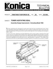 Buy Konica 30 TONER AGITATING SEAL Service Schematics by download #136093