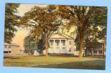 Buy CT Guilford First Congregational Church Color View of Church and Old Build~466