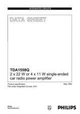 Buy MODEL TDA1558 Service Information by download #124678
