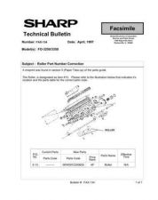 Buy Sharp FAX134 Technical Bulletin by download #138883