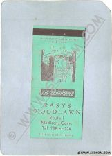 Buy CT Madison Matchcover Rasys Woodlawn Route 1 w/Info Inside ct_box3~1206