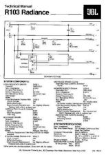 Buy INFINITY R103 RADIANCE TS Service Manual by download #151369