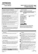 Buy Hitachi VTFX145ENAV NL Manual by download #171014