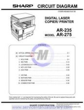 Buy Sharp AR250-280-281-285-286-335-336-405-501-505 SM DE Manual by download #17939