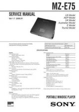 Buy SONY MZ-E2 SERVICE MANUAL by download #128930