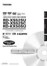 Buy TOSHIBA RDXS52SVM Manual by download #172285