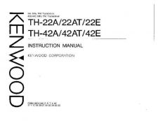 Buy KENWOOD TH-22A-AT-E Manual Service Data by download #132800