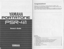 Buy Yamaha PSR41E Operating Guide by download Mauritron #204141