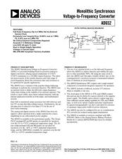 Buy INTEGRATED CIRCUIT DATA AD652J Manual by download Mauritron #186300