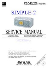 Buy AIWA CSD-EL55 TECHNICAL INFO by download #125235