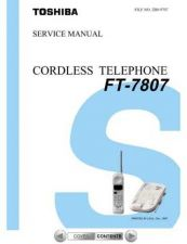 Buy TOSHIBA FT 7807 Service Schematics by download #160112