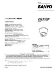 Buy Sanyo Service Manual For VCC-9615P Manual by download #176122