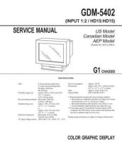 Buy SONY GDM-5402 Service Manual by download #166880