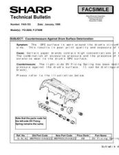 Buy Sharp FAX153 Technical Bulletin by download #138902