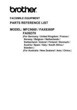 Buy BROTHER MFC-8360P, 8370, 9660 PARTS MANUAL Service Manual by download #146316