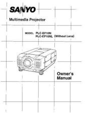 Buy Sanyo PLCXU36 Manual by download #175013