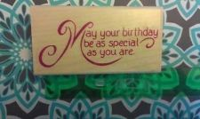 Buy Stampabilities wood mounted Birthday Greeting
