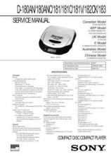 Buy Sony D-180AN Service Manual by download Mauritron