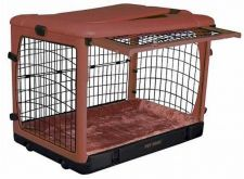 Buy Pet Gear Deluxe Steel Dog Crate with Bolster Pad Carry Bag Medium Brick