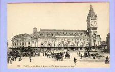 Buy FRA Paris The Lyon Terminal View Large Old Stone Terminal w/Large Clock To~129