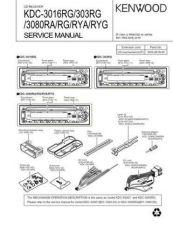 Buy KENWOOD KDC-3016RG 303RG 3080RA RG RYA RYG Technical Info by download #148139