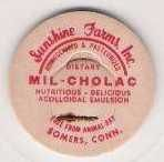 Buy CT Somers Milk Bottle Cap Name/Subject: Sunshine Farms, Inc. Mil-Cholac~269