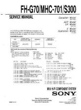 Buy SONY F-V300P Service Manual by download #166826