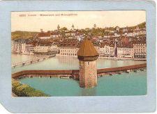 Buy CHE Luzern Covered Bridge Postcard Wasserturm Und Museggturme Switzerland ~1039