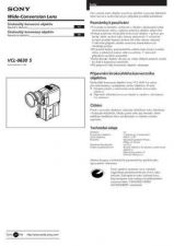 Buy SONY VCL-0630S CZ-SCREEN OPERATING GUIDE by download #167227