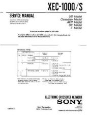 Buy SONY XEC-1000 Service Manual by download #167264