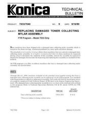 Buy Konica 09 REPLACING DAMAGED TONER Service Schematics by download #135931