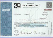 Buy DE na Stock Certificate Company: 2B System, Inc. ~1