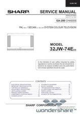 Buy Sharp 32JW74E-EES SM GB Manual.pdf_page_1 by download #178276