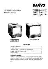 Buy Sanyo VDC-D1185VP D2185VP Operating Guide by download #169632