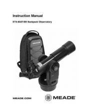 Buy Meade ETX-LS Quickstart Instruction Manual by download Mauritron #194750