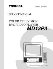 Buy TOSHIBA MD13P3SVM Service Schematics by download #160158