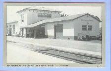 Buy CA San Luis Obispo Southern Pacific Depot Black & White Photo Type View Sm~8
